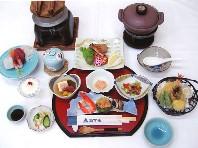 かみおか温泉嶽の湯料理