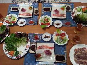 ペンション琵琶湖料理