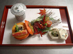 山神温泉湯乃元館料理