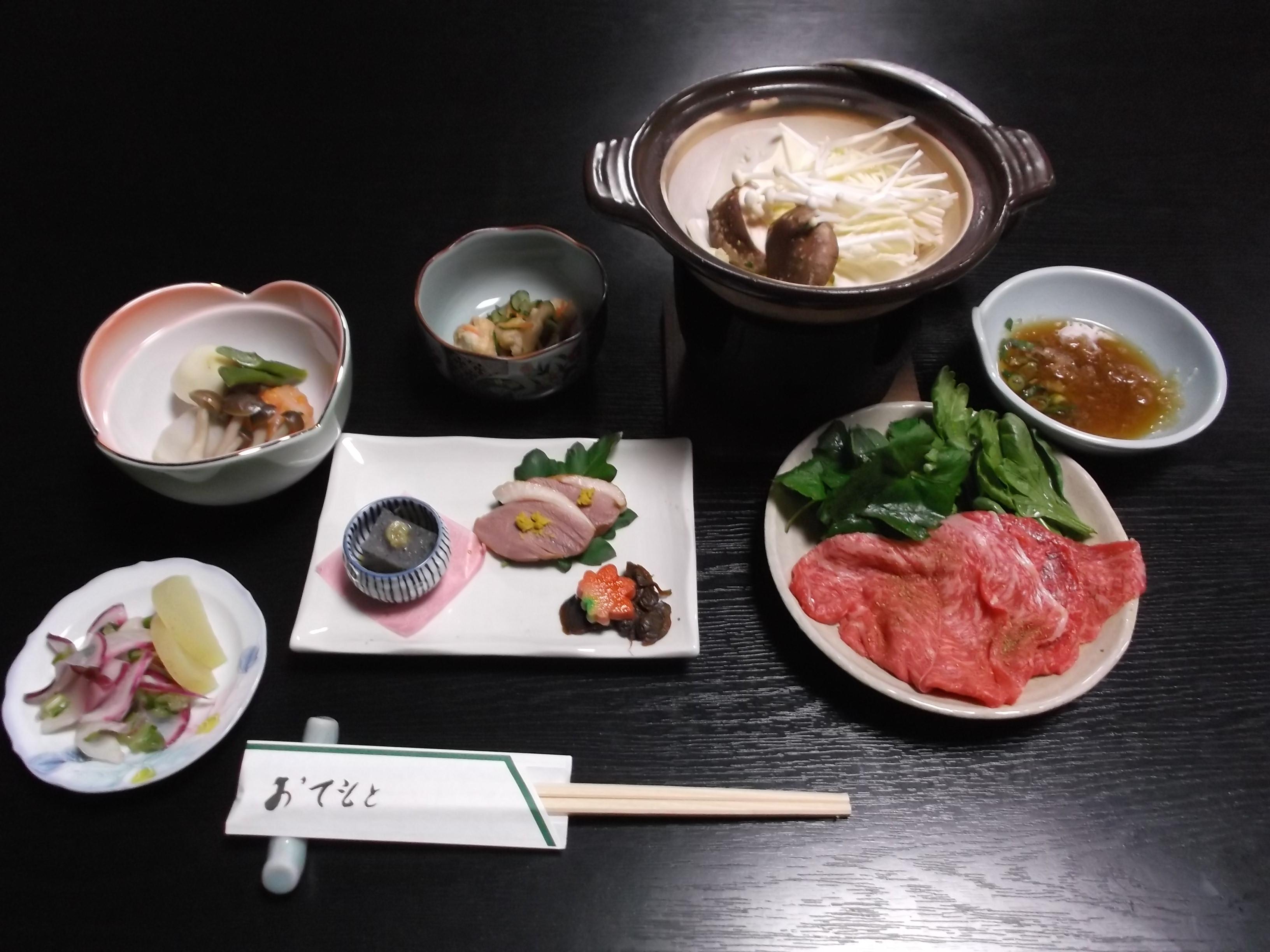 石山温泉旅館月乃家山荘食事